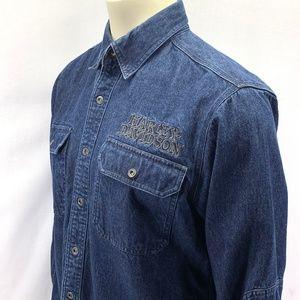 Harley Davidson Denim Shirt Embroidered Willie G M